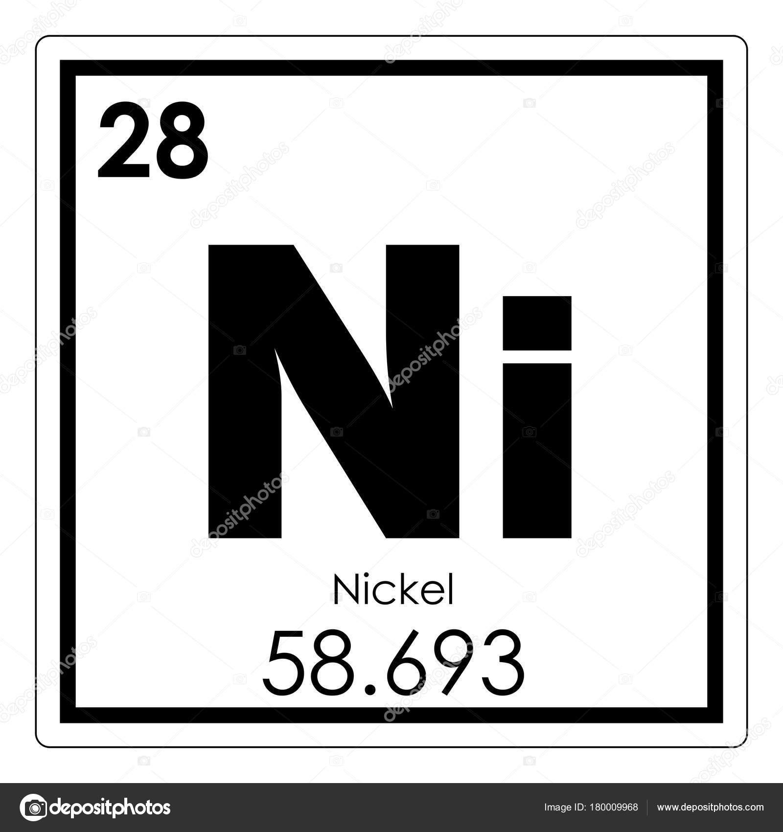 Elemento qumico de nquel foto de stock tony4urban 180009968 smbolo de ciencia de tabla peridica de elementos qumicos de nquel foto de tony4urban urtaz Images