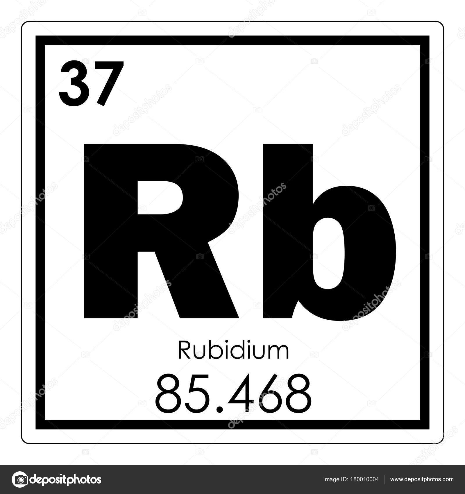 Elemento qumico del rubidio fotos de stock tony4urban 180010004 smbolo de la ciencia de rubidio elemento qumico tabla peridica foto de tony4urban urtaz Image collections