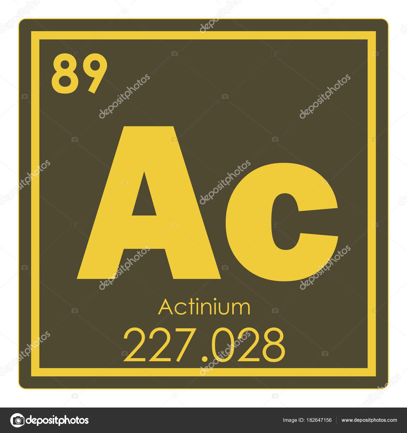 アクチニウム元素記号 — ストッ...