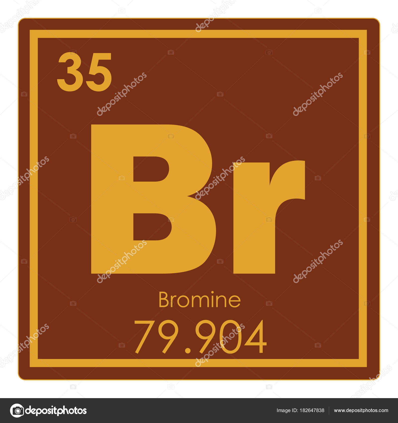 bromine chemical element periodic table science symbol photo by tony4urban - Bromine Periodic Table Atomic Number