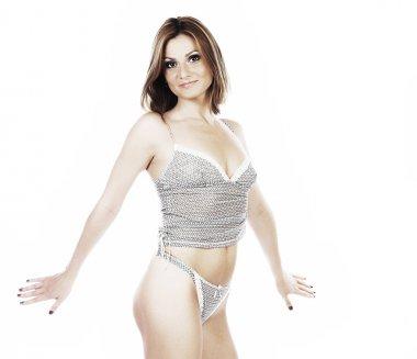 beautiful lingerie female model posing