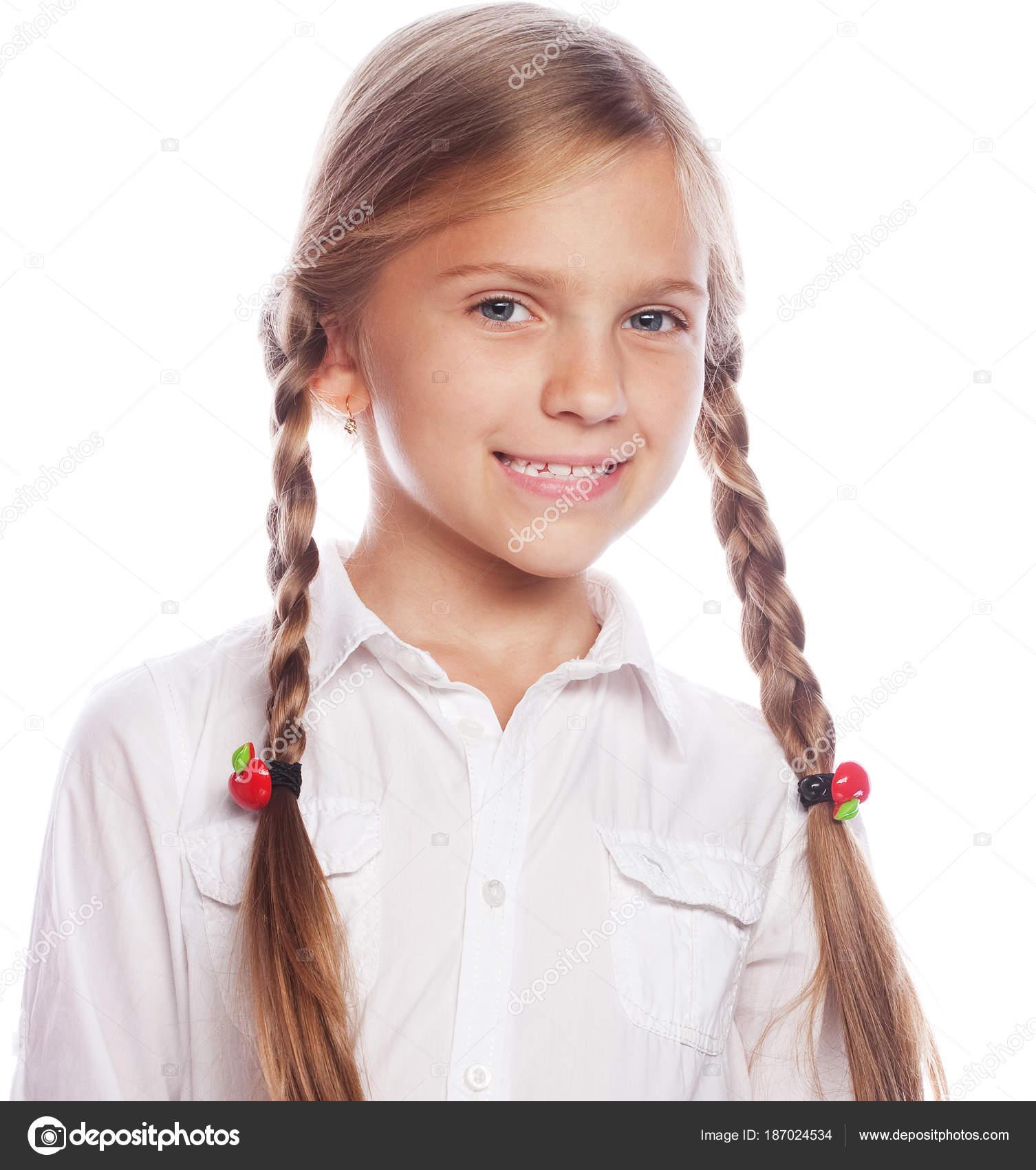 Blond pigtails