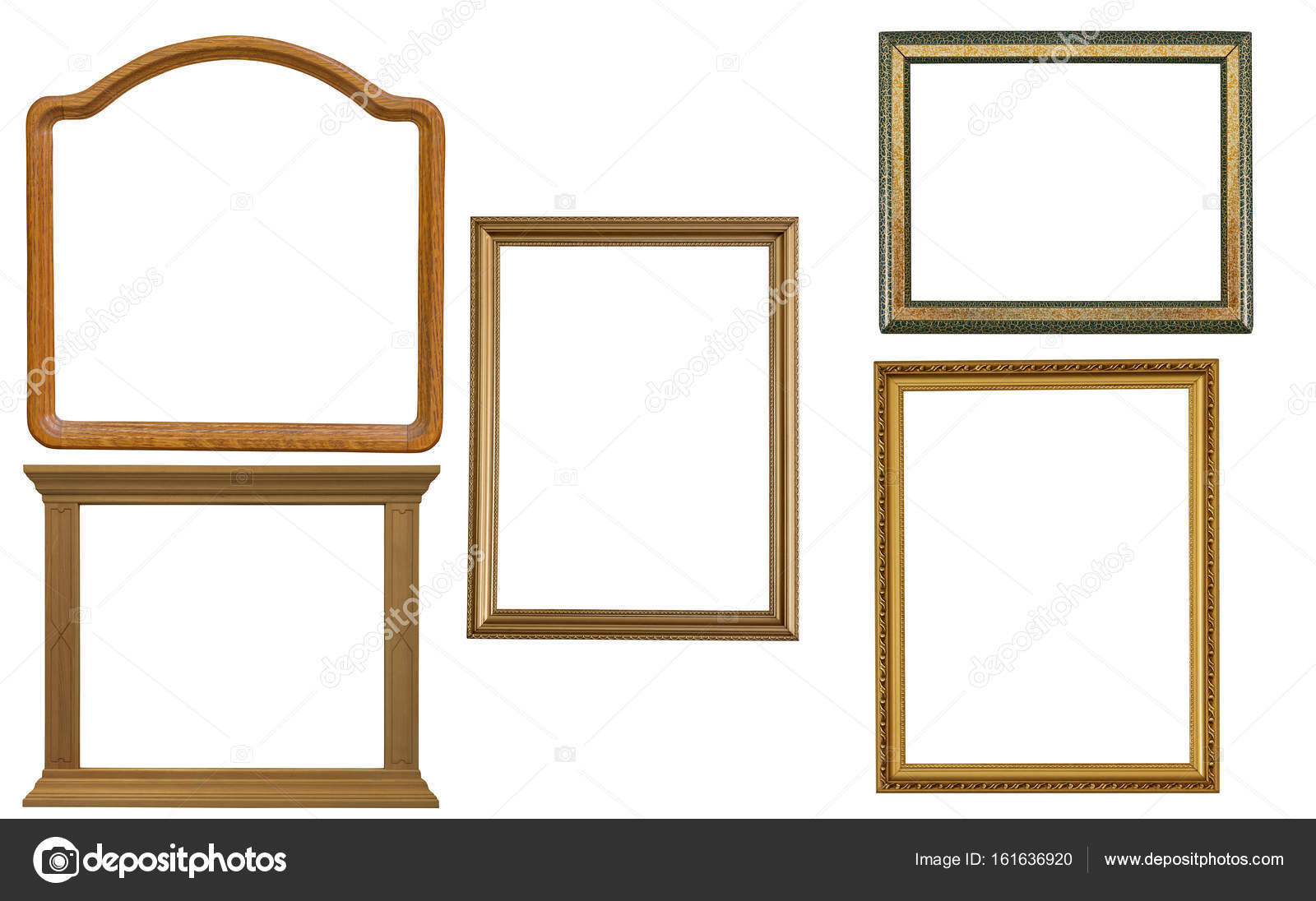 five blank frames isolated on white — Stock Photo © Dr.PAS #161636920