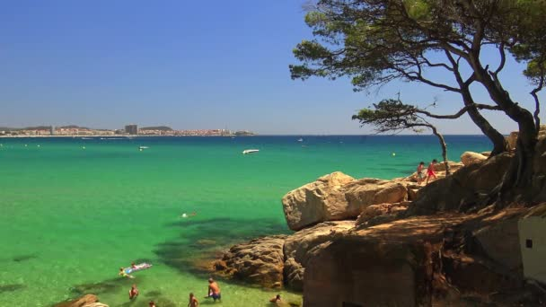 Spanish beach in Catalonia (Sant Antoni de Calonge)