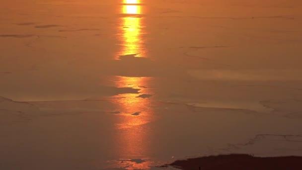Gyönyörű naplemente a Balaton Magyarország felett