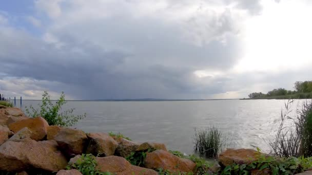 Storm cloudy over lake Balaton in Hungary, time lapse