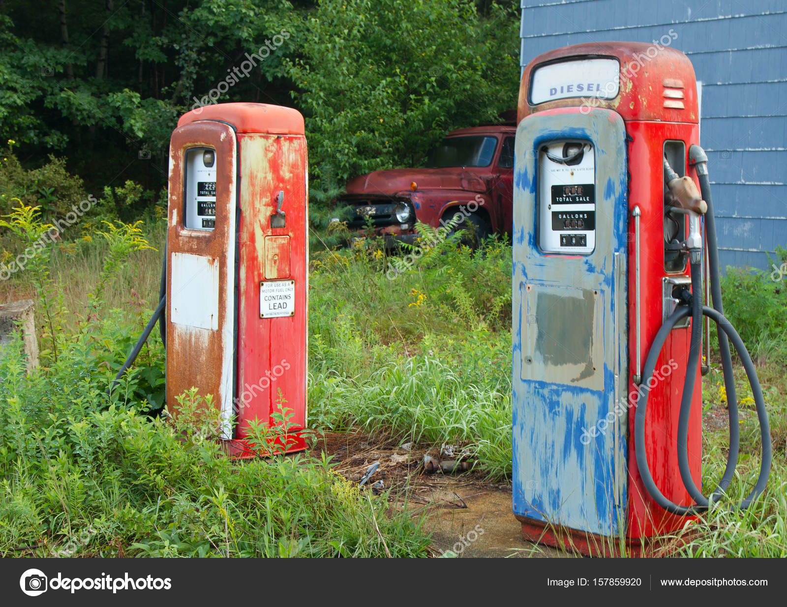 Old Gas Pumps — Stock Photo © paulbradyphoto #157859920