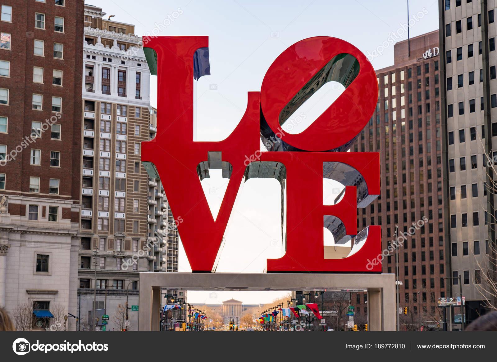 Love Sculpture in Philadelphia, Pennsylvania — Redaktionelles ...