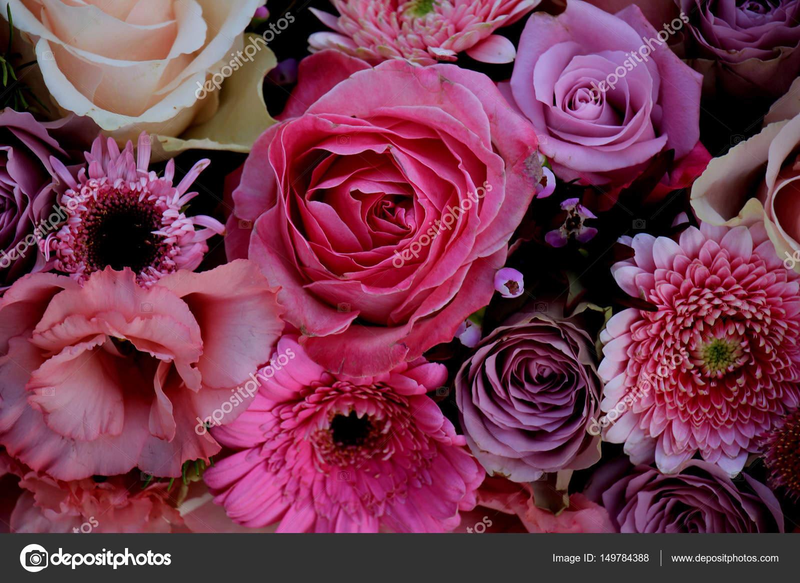 Mixed Pink Wedding Flowers Stock Photo C Portosabbia 149784388
