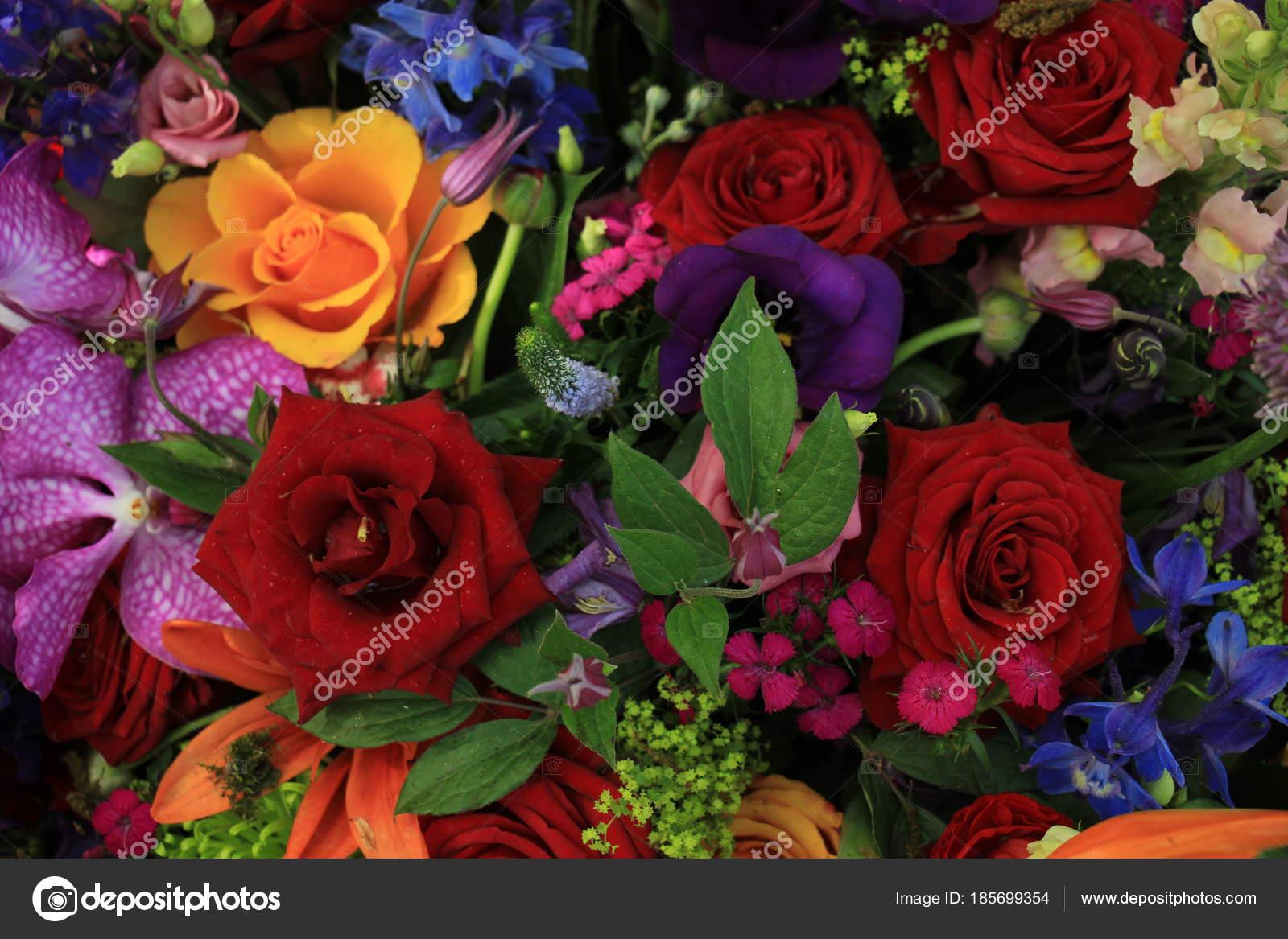 Bunte Hochzeitsblumen Stockfoto C Portosabbia 185699354