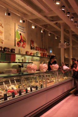 Barcelona, Spain - september 29th 2019: Ice Cream shop