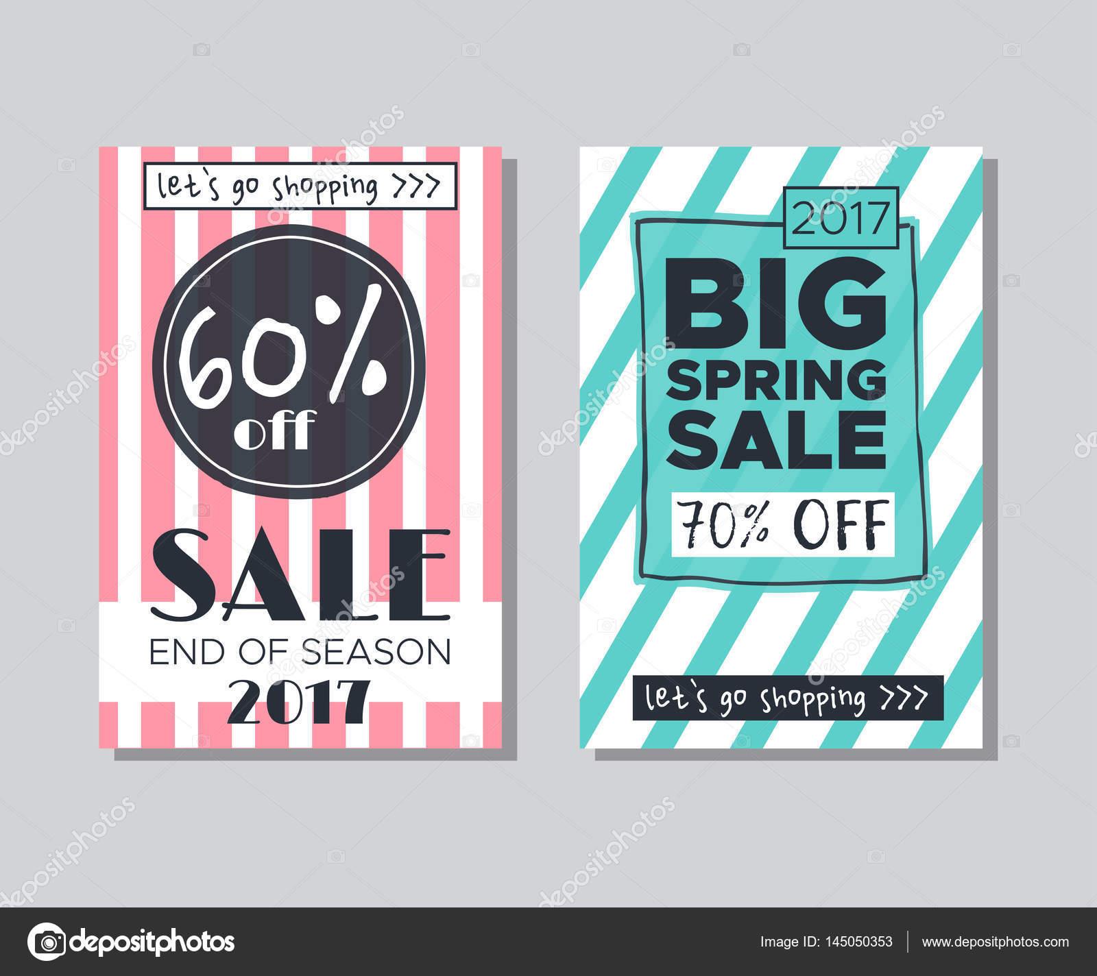 Sammlung von Verkauf und anderen Typografie-flyer — Stockvektor ...