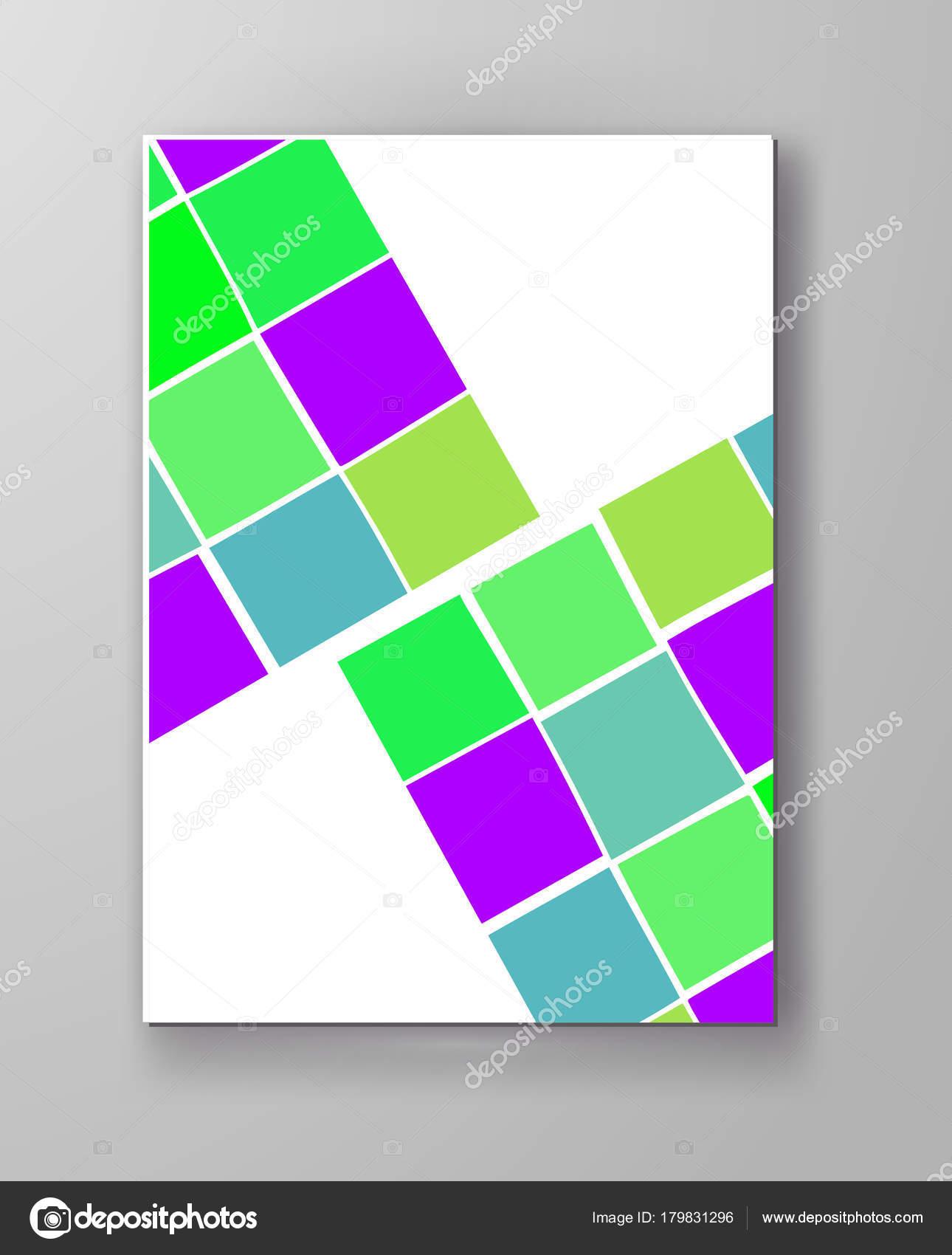 Plantillas Diseño Abstracto Estilo Formas Inusual Color Folletos ...