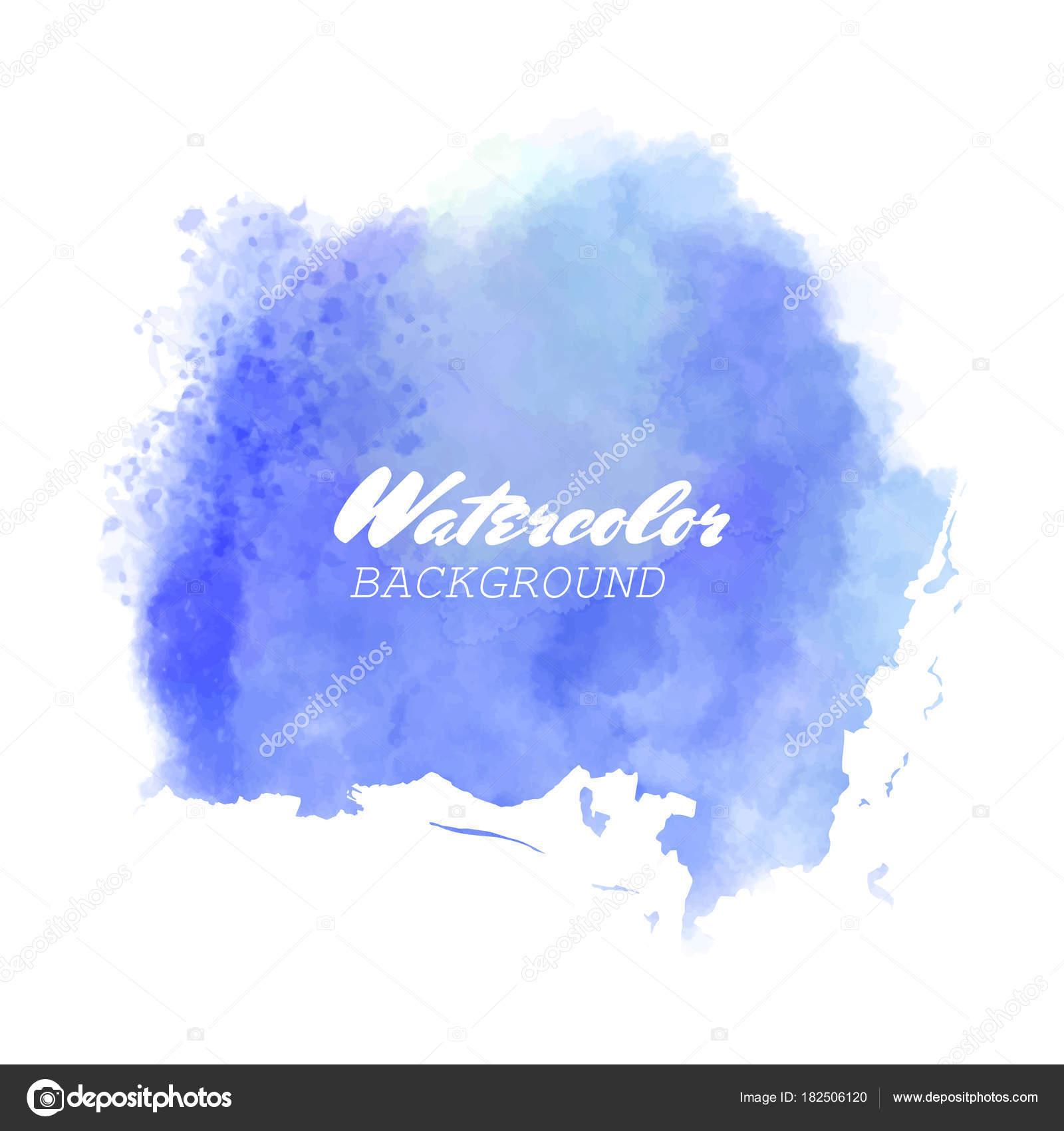 Blue watercolor hand drawn vector  — Stock Vector © sdmixx