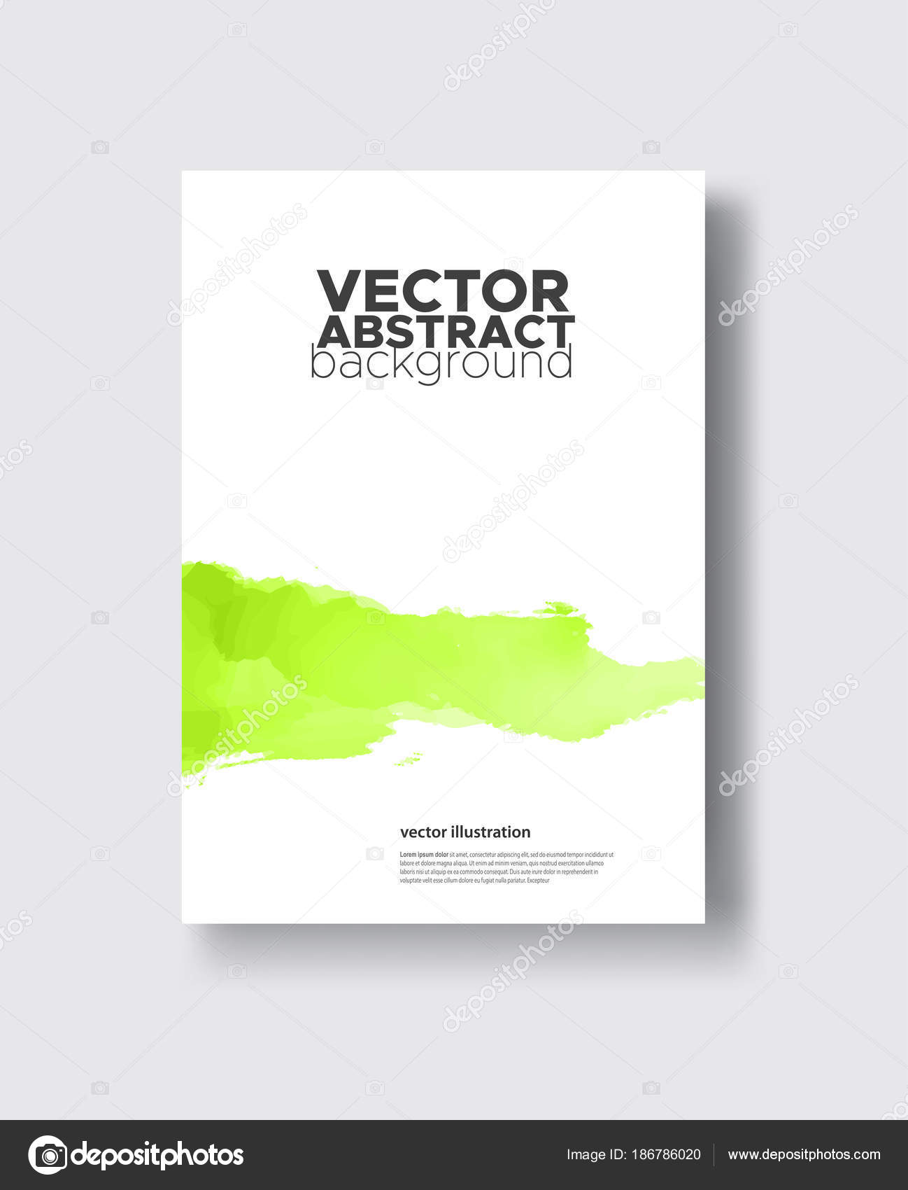 Elegant Brochure Template Design Ink Brush Element Stock Vector