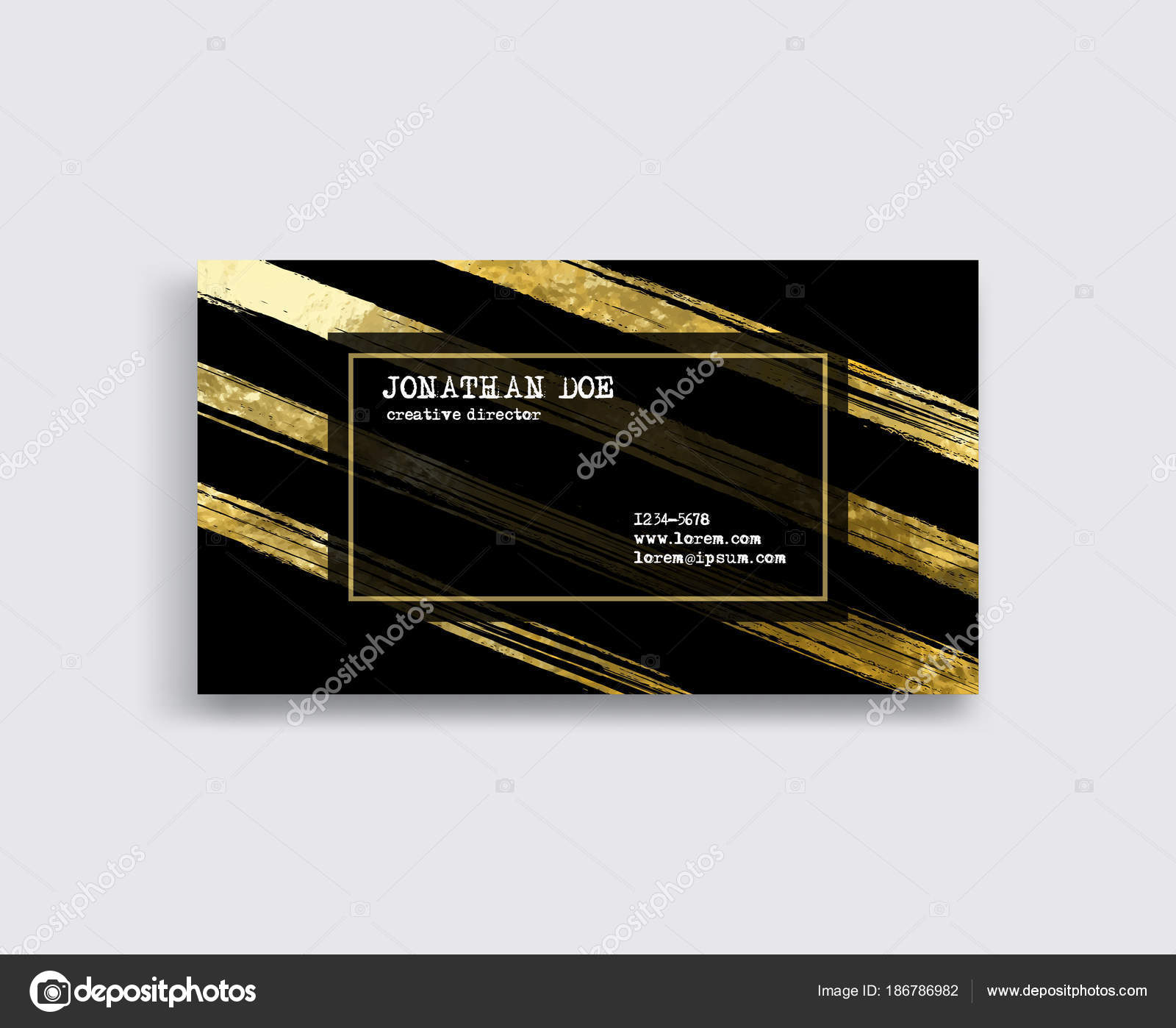 Black and gold business card template stock vector sdmixx black and gold business card template vector illustration vector by sdmixx reheart Choice Image
