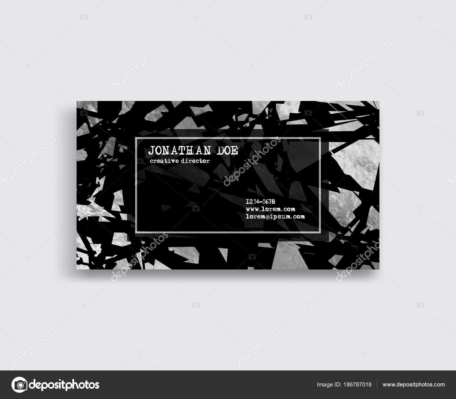 Elegante Vorlage Luxus Visitenkarte Mit Metallteilen