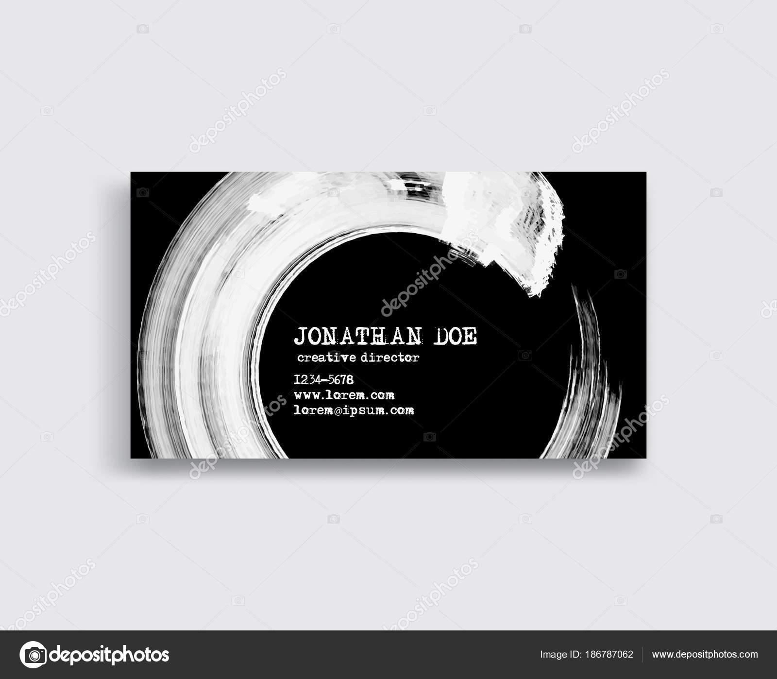 Modles De Carte Visite Crative Avec Un Design Minimaliste Coups Pinceau D