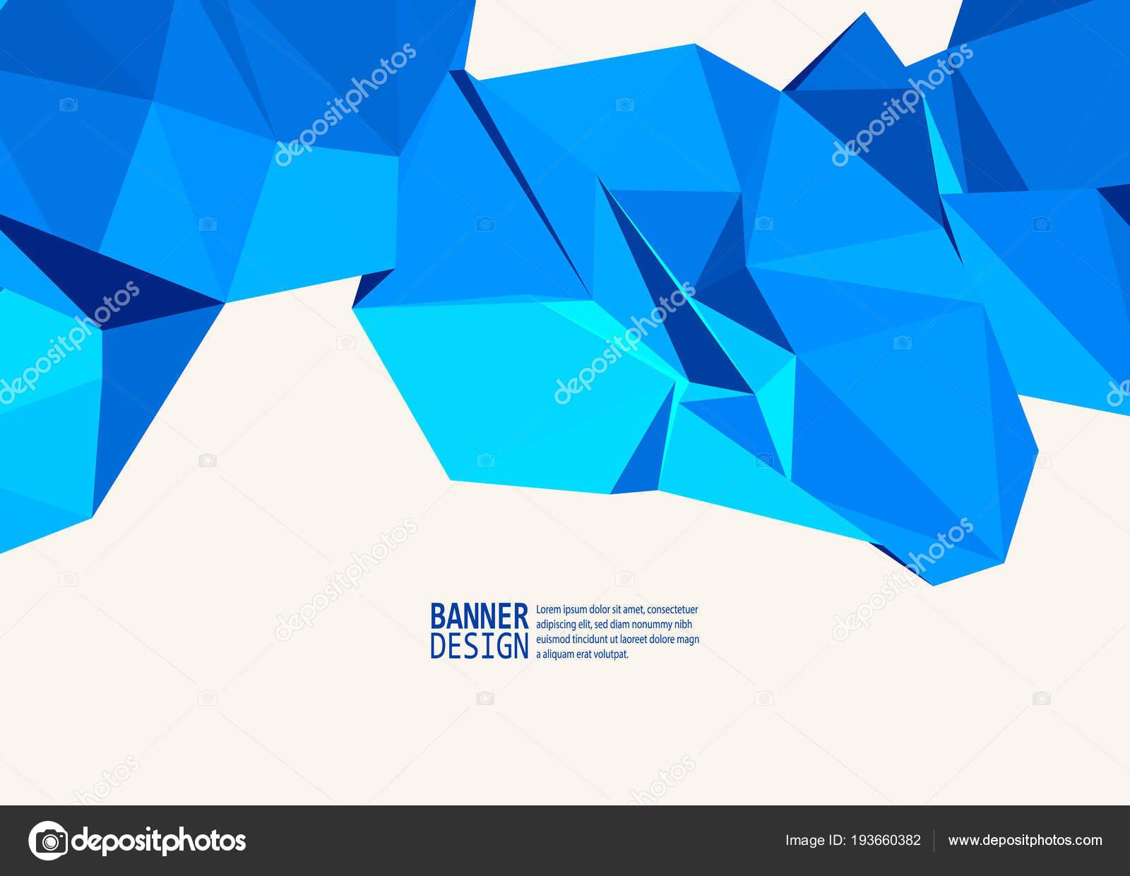 Plantillas Diseño Triángulo Vector Color Azul Para Folletos Volantes ...