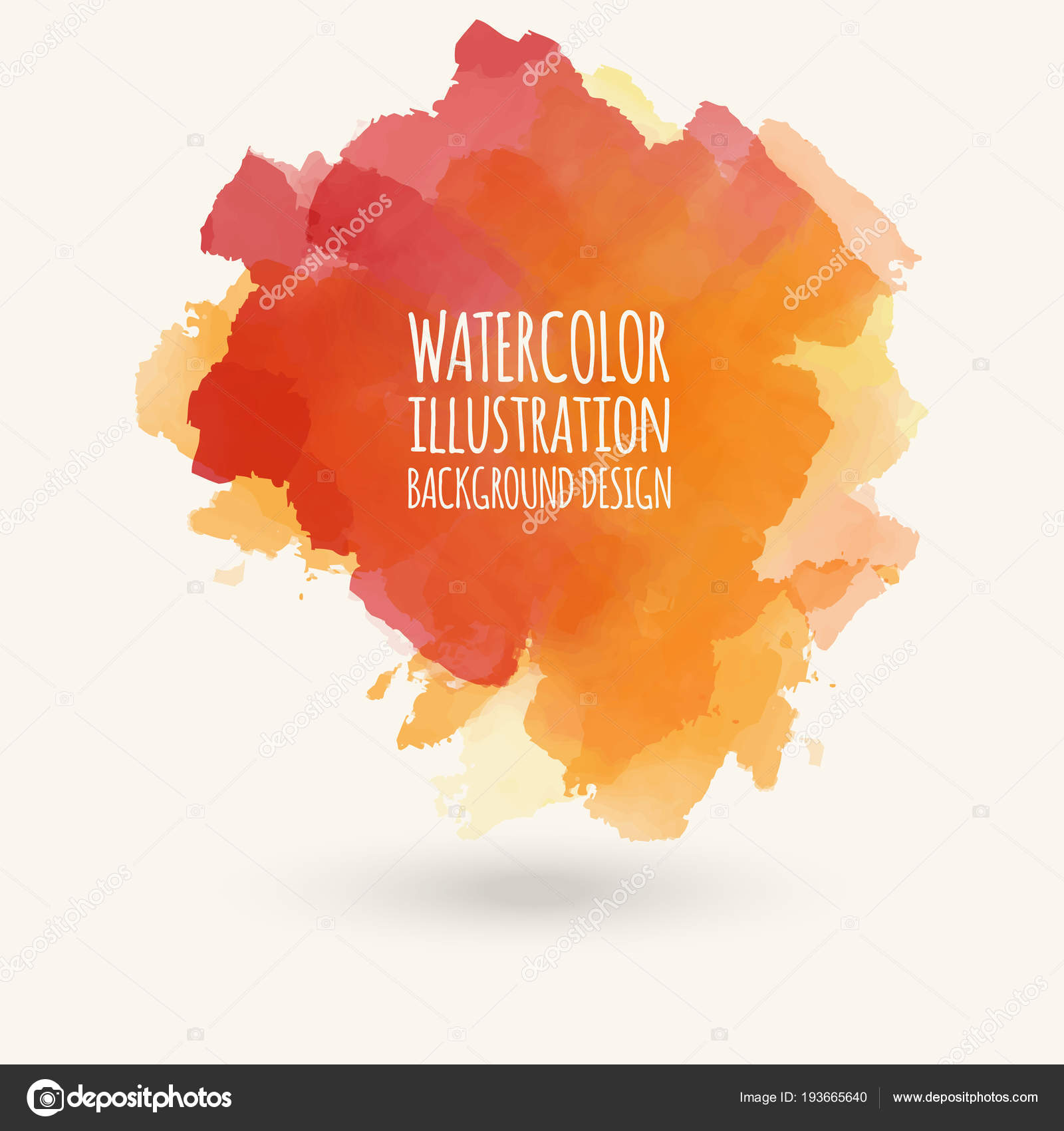 Vector Blue Yellow Brush Strokes Watercolor Grunge Isolated