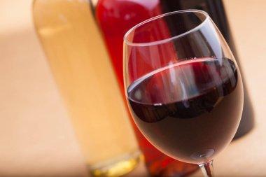 set of tasty wine
