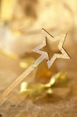 Golden magic wand