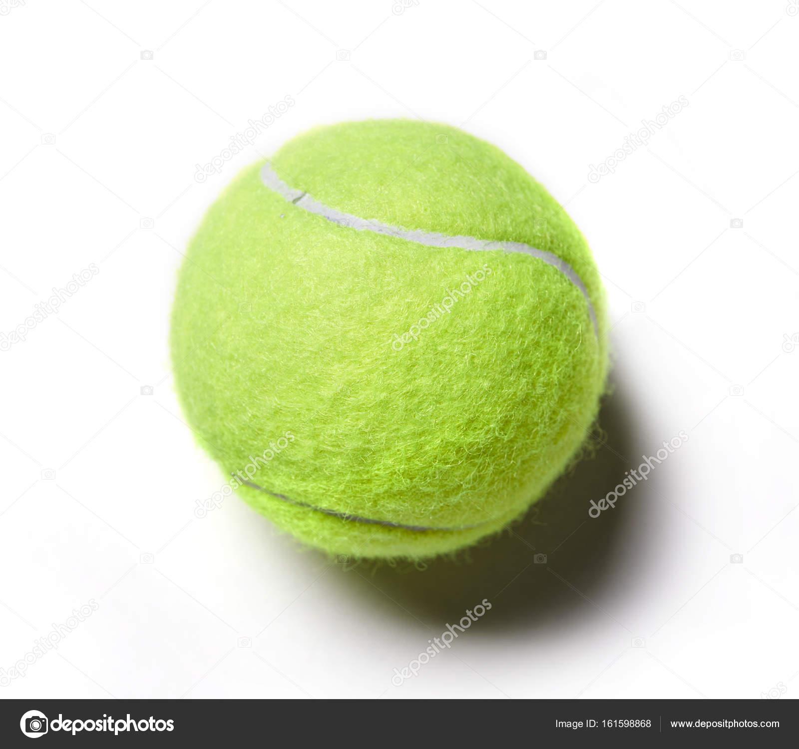 e0a164dc51bbd Balle de tennis vert isolé sur fond blanc — Image de strelok