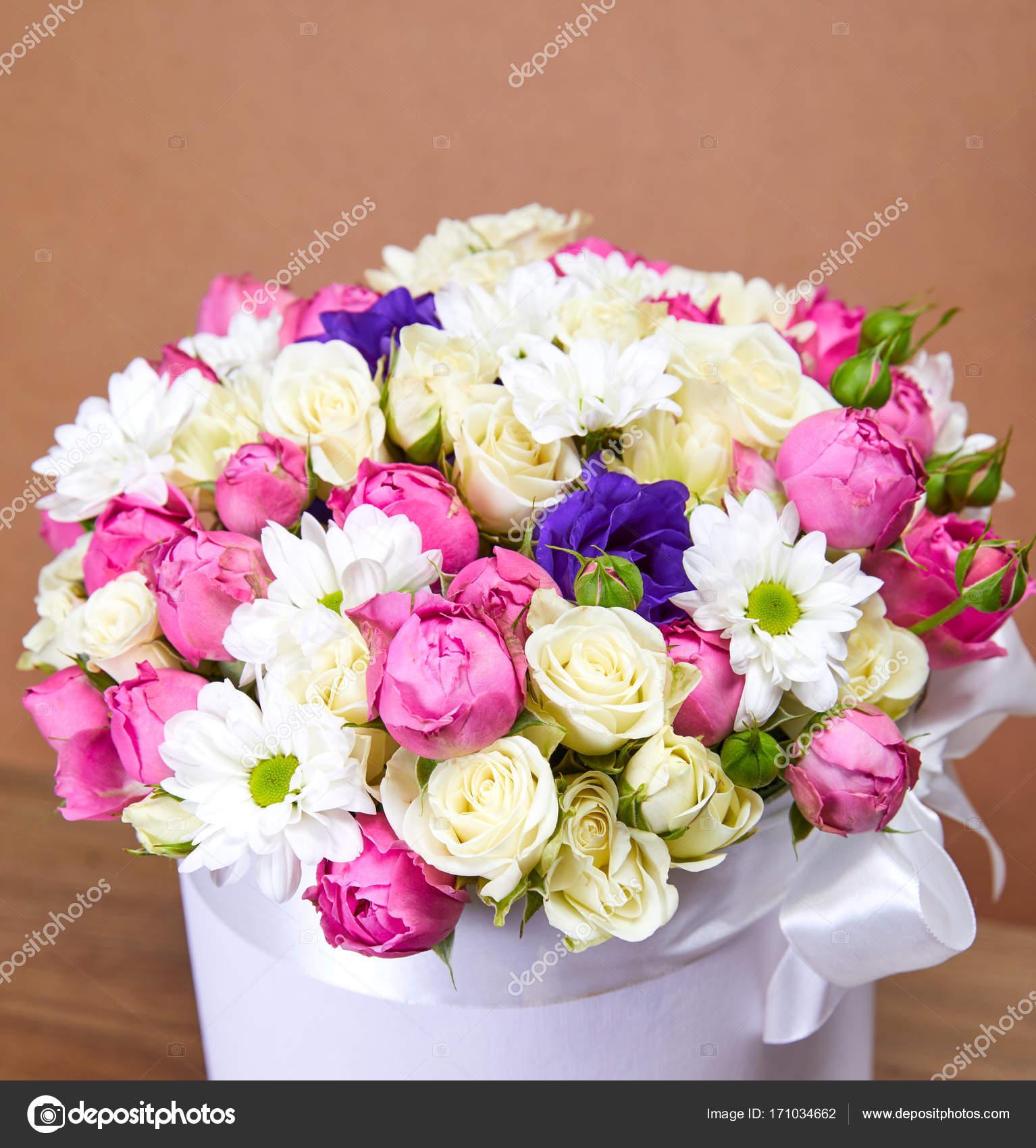 Nice Bright Flower Bouquet Close Stock Photo Strelok 171034662