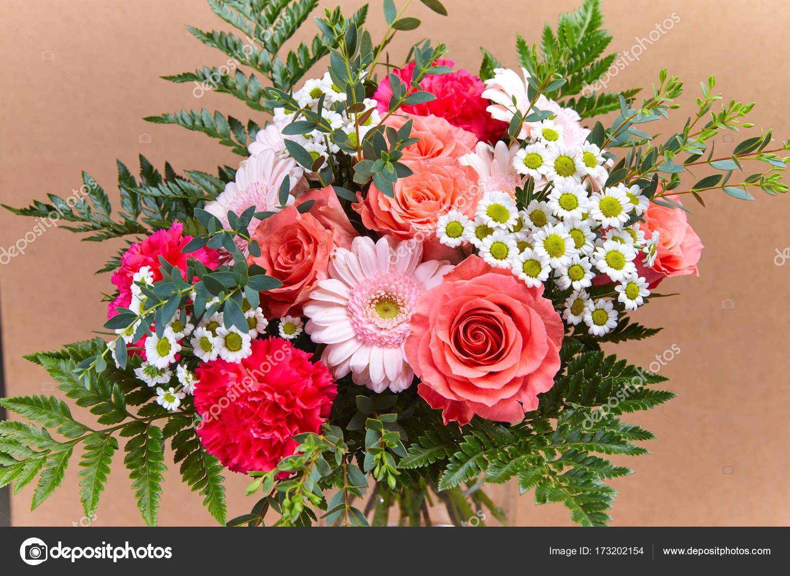 Nice Bright Flower Bouquet Close Stock Photo Strelok 173202154