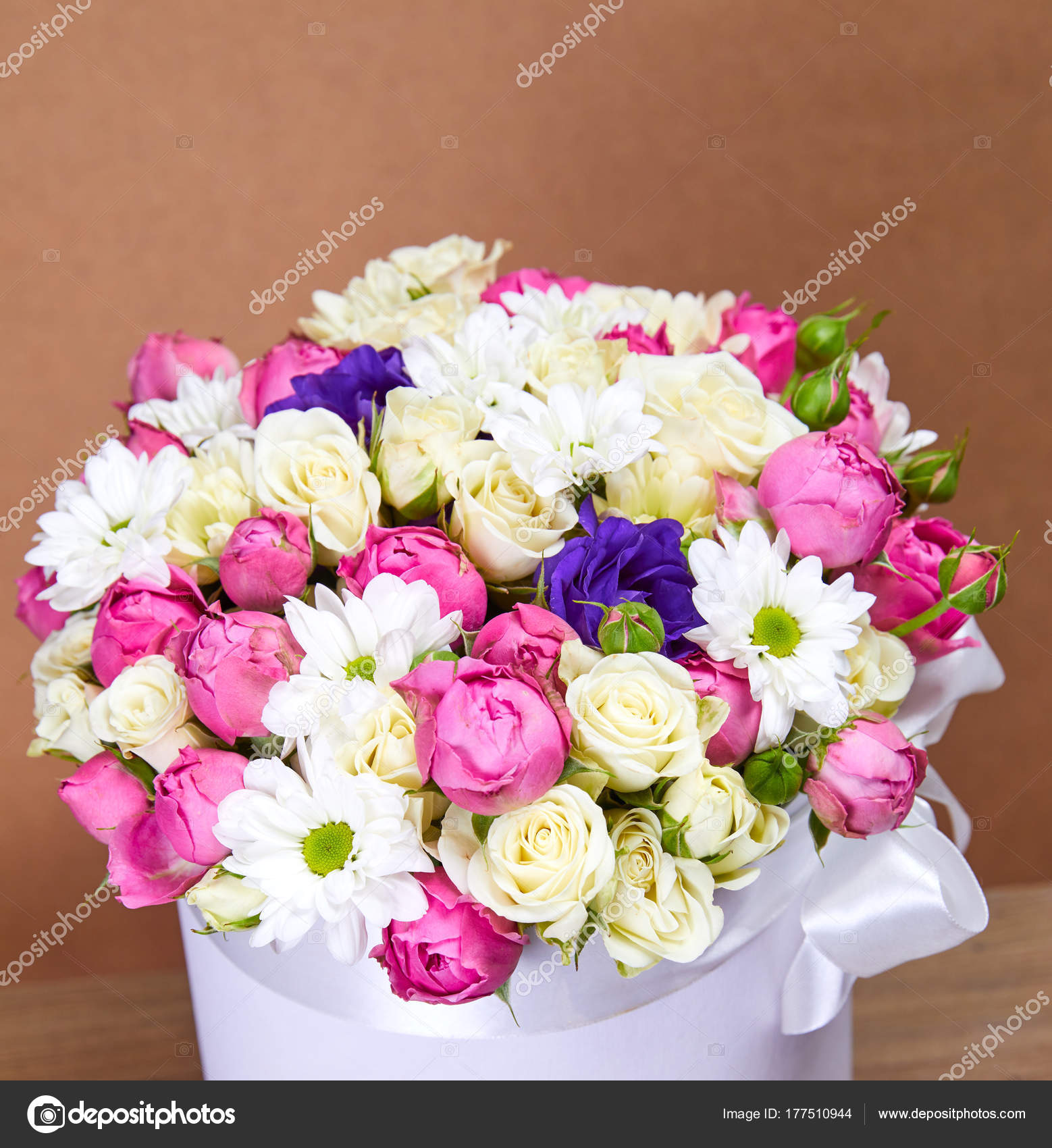 Beautiful Fresh Flower Bouquet Festive Concept Stock Photo