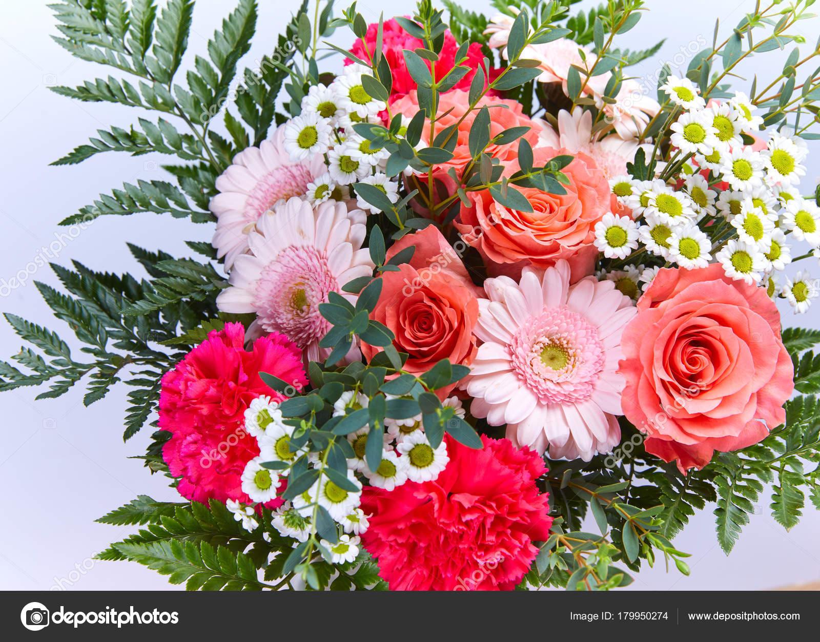 Beautiful Fresh Flower Bouquet Festive Concept — Stock Photo ...