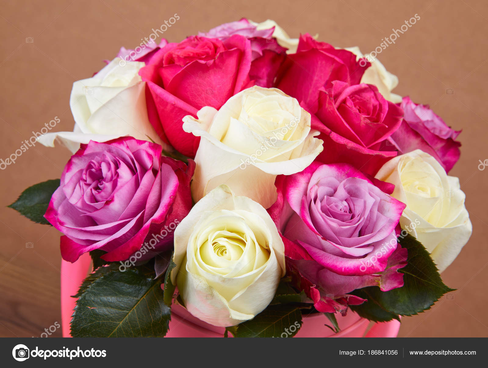 Beautiful Fresh Flower Bouquet Spring Concept Stock Photo