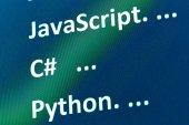 programmazione schermo astratto codice di sviluppatore di software, concetto script