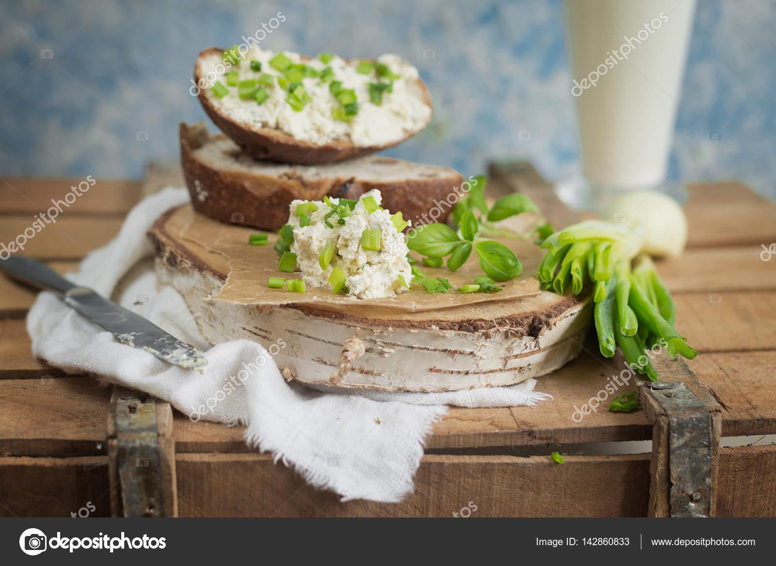 Imagenes De Queso Crema: Pan Con Queso Crema Y Ciboulette