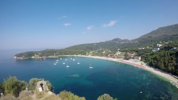 Valtos beach landscape Parga Greece