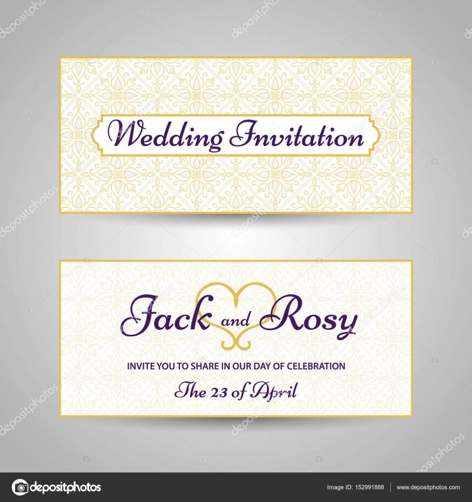 Schön Arabischen Stil Hochzeit Einladung Vorlage U2014 Stockvektor