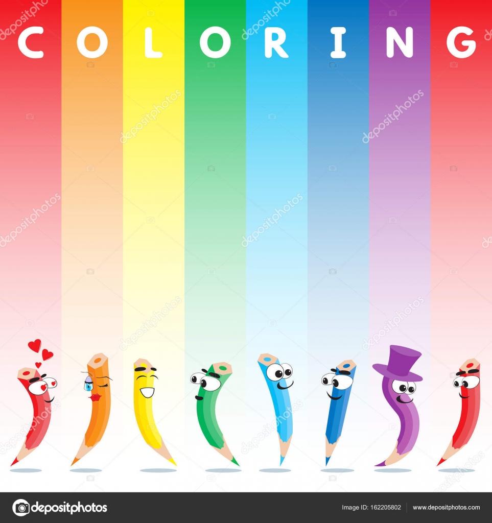 Vector de lápices de colores — Archivo Imágenes Vectoriales ...