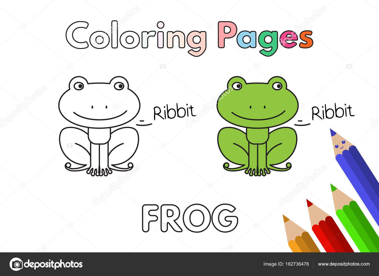 Cartoon Frog Coloring Book — Stock Vector © Roman_Volkov #162736478