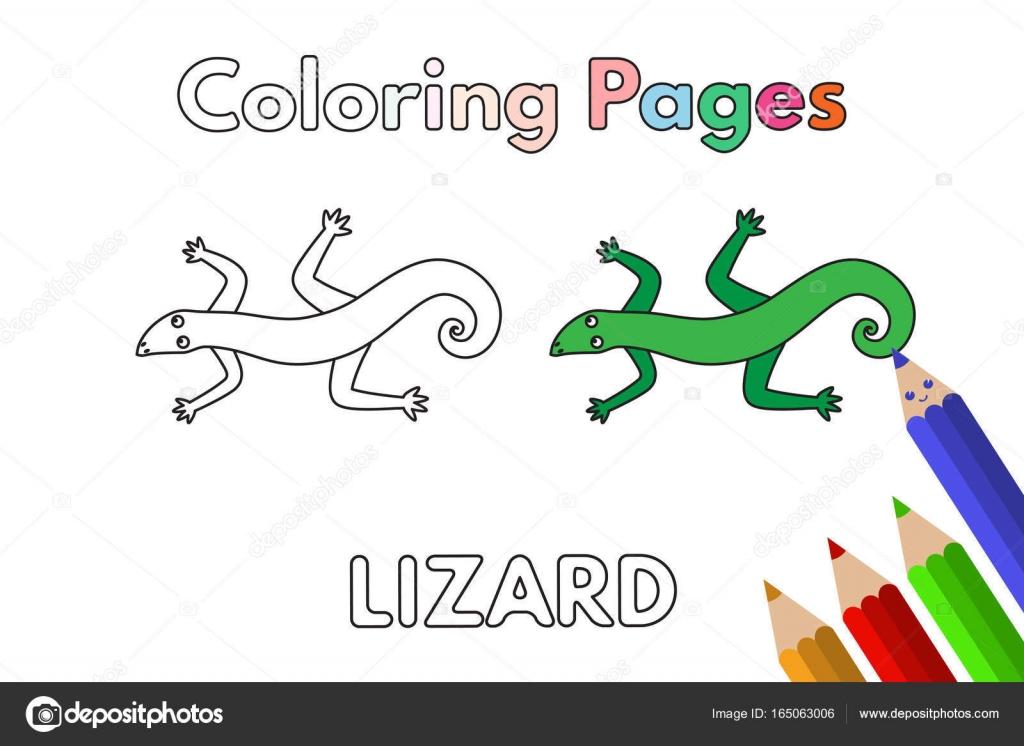 Dibujos Climas En Ingles Libro De Colorear De Lagarto De Dibujos