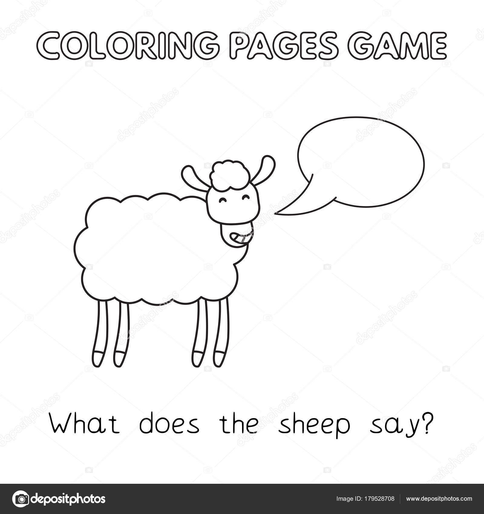 Libro de colorear de ovejas de dibujos animados — Archivo Imágenes ...