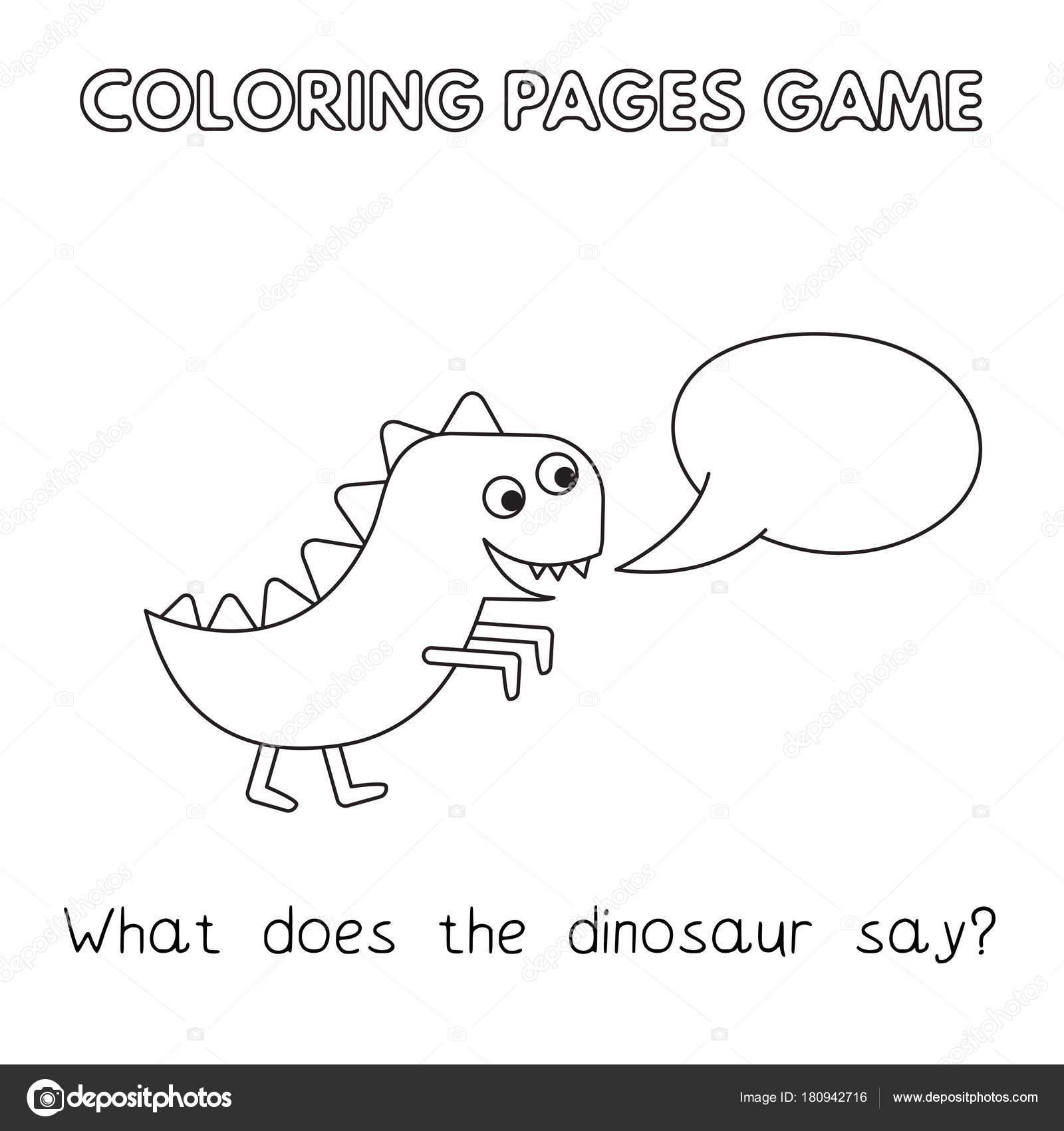 Libro de colorear dinosaurio dibujos animados — Archivo Imágenes ...