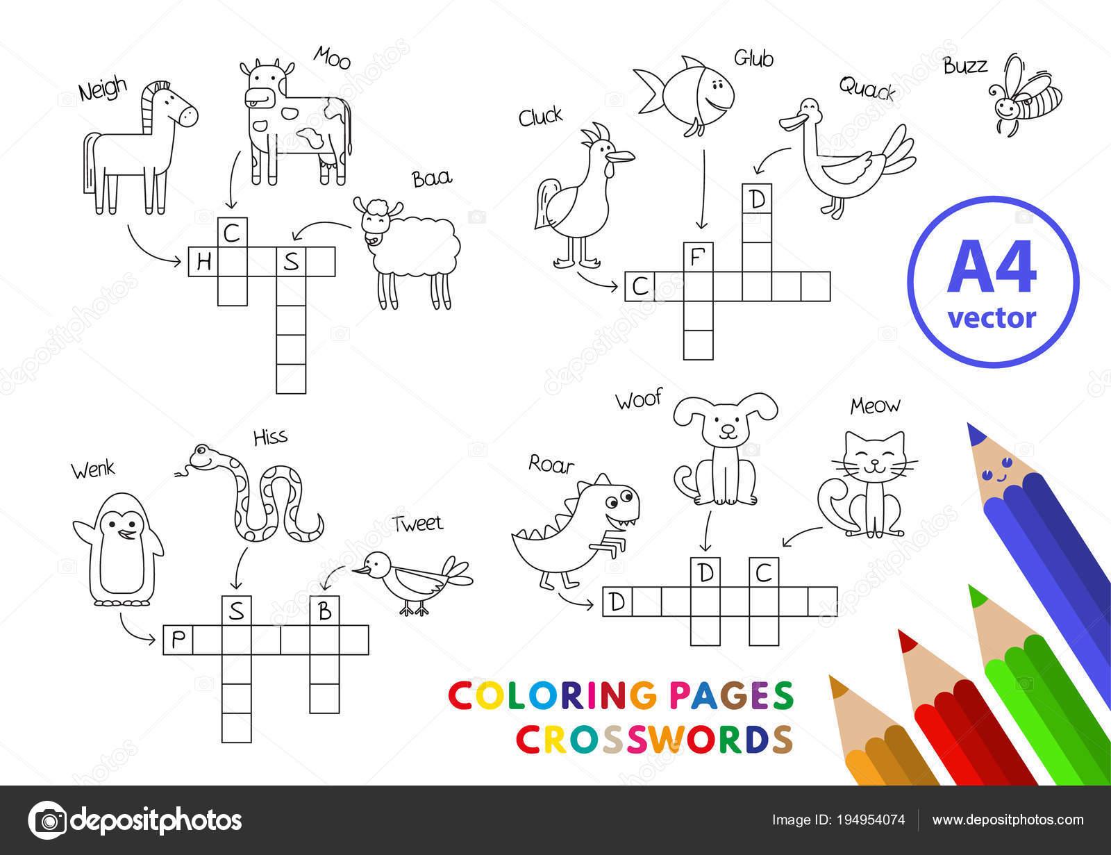 Patos Para Colorear Para Para Con Para Vector Stock Sin: Divertidos Animales Para