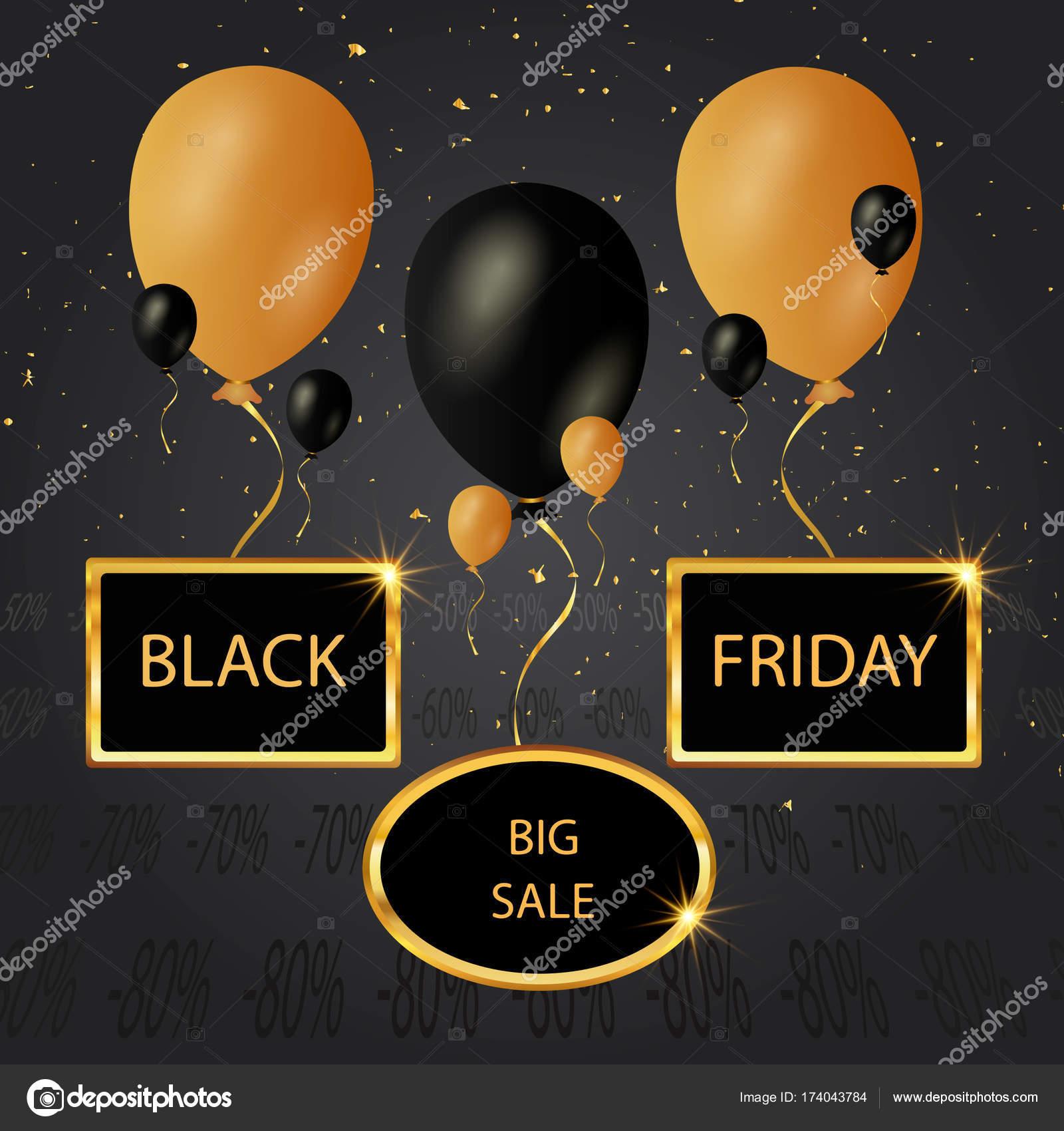 El viernes negro cartel de compras. Banner de descuento venta con ...