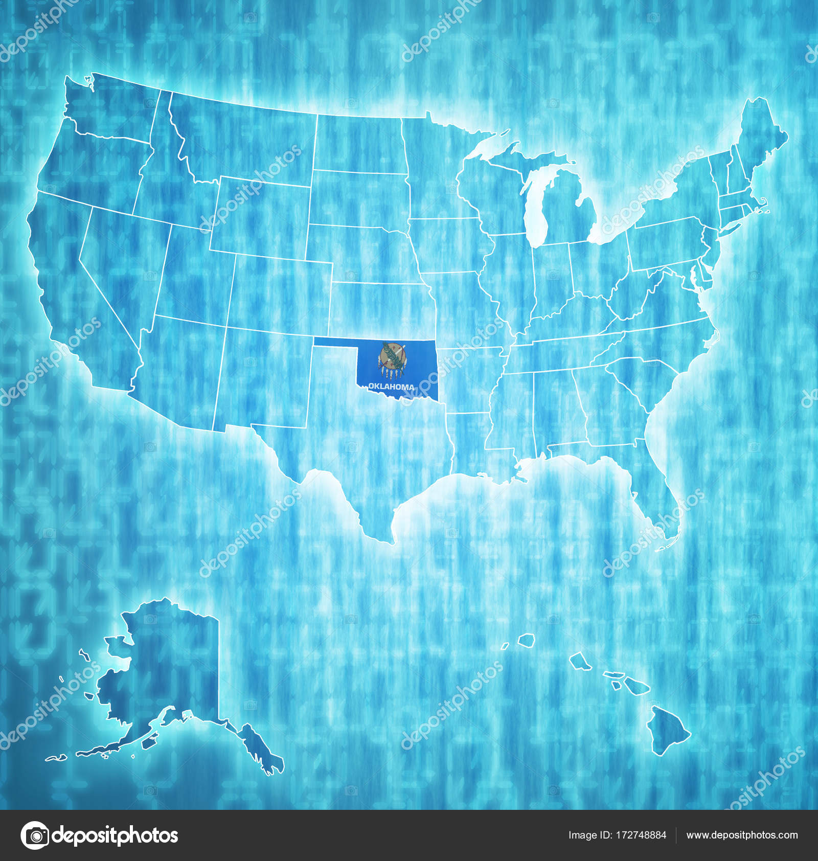 Oklahoma On Map Of United States.Oklahoma On Map Of Usa Stock Photo C Michal812 172748884