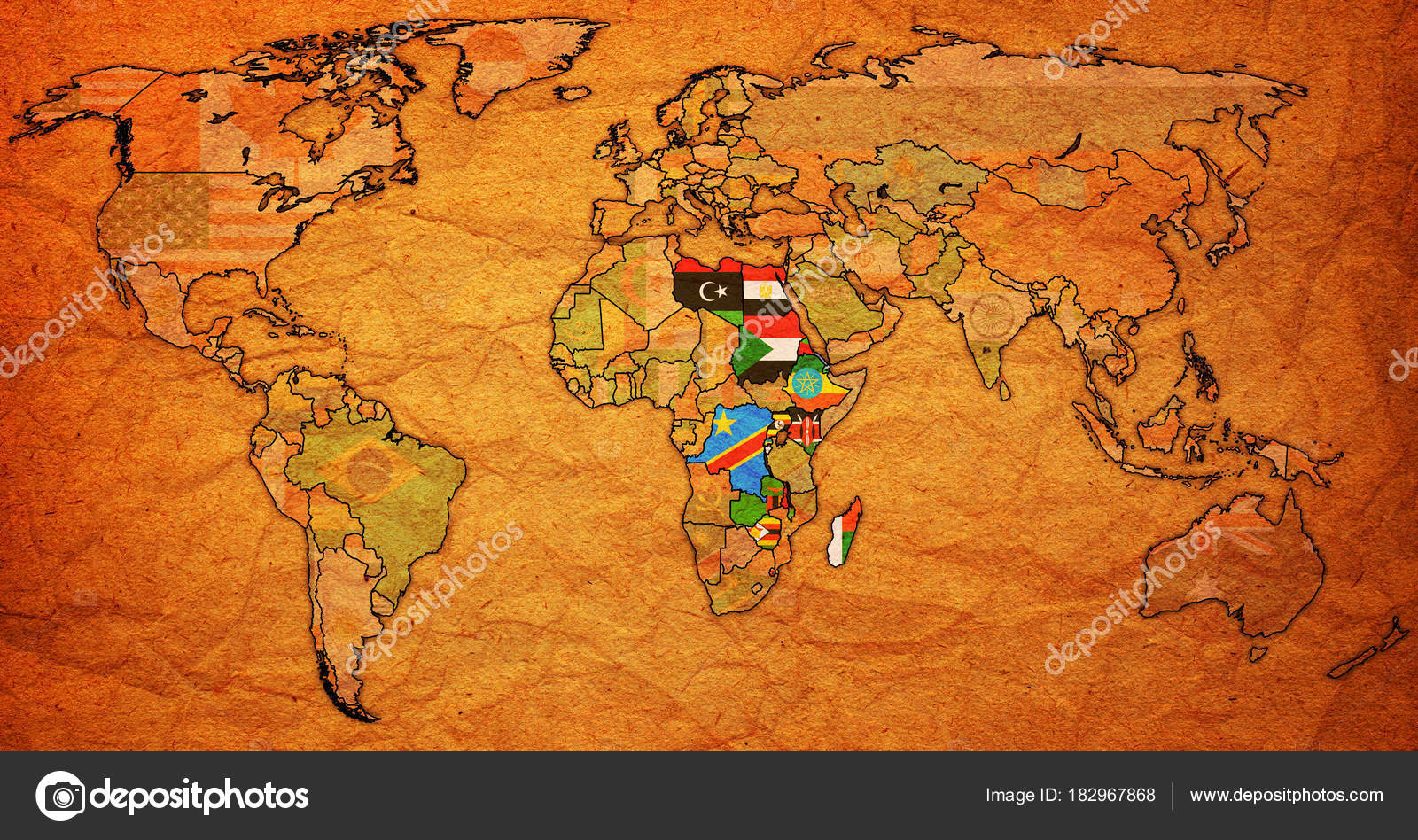Common market for eastern and southern africa territory on world common market for eastern and southern africa member countries flags on world map with national borders photo by michal812 gumiabroncs Choice Image
