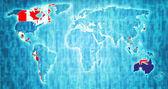 Transpacifické partnerství území na mapě světa