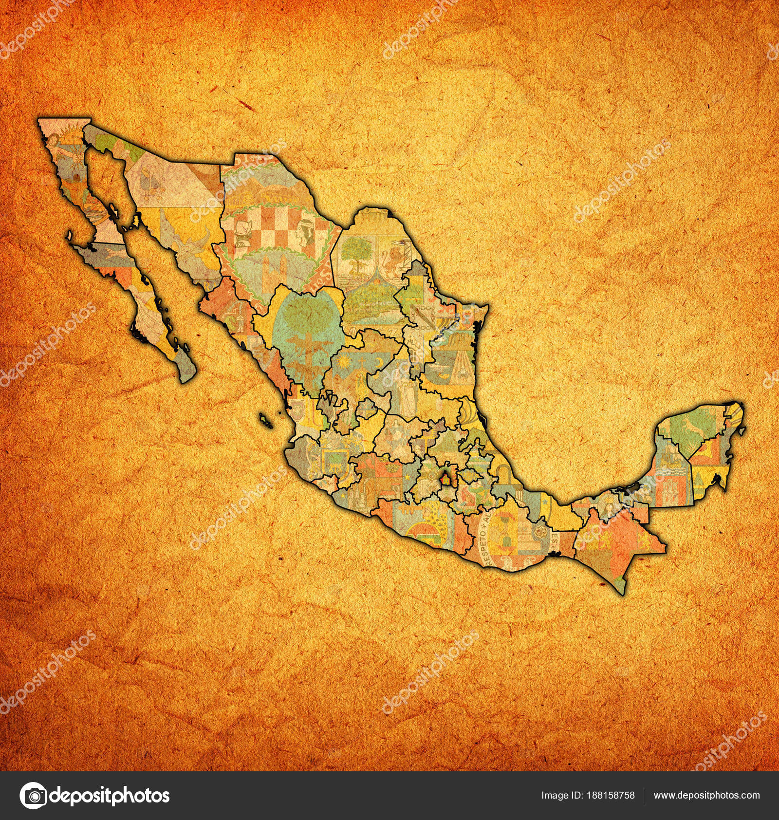 Tlaxcala On Administration Map Of Mexico Stock Photo C Michal812