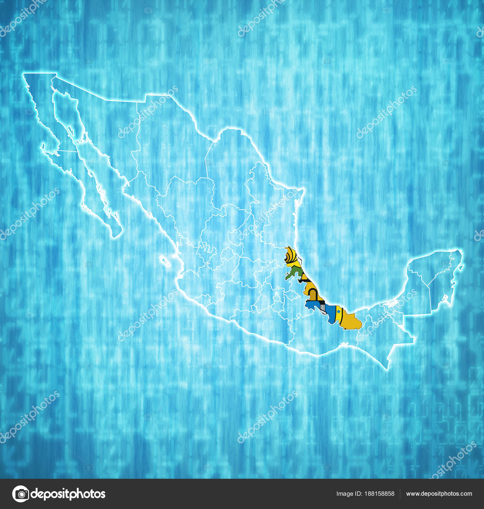 Veracruz On Administration Map Of Mexico Stock Photo C Michal812