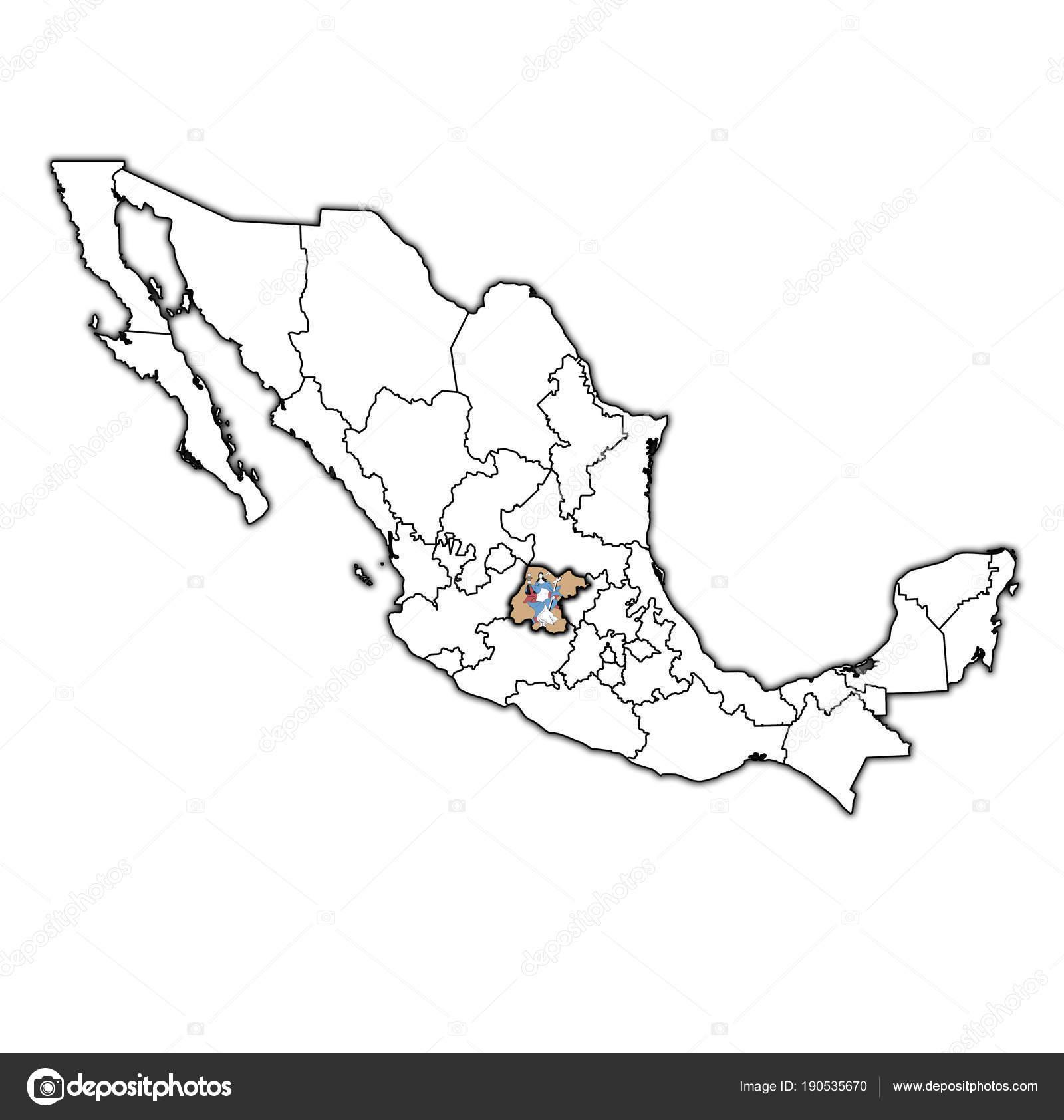 Mexico Map Guanajuato.Guanajuato On Administration Map Of Mexico Stock Photo C Michal812