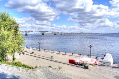 Saratov. Bridge across the river Volga